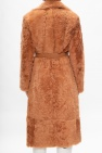 Chloé Fur coat with belt