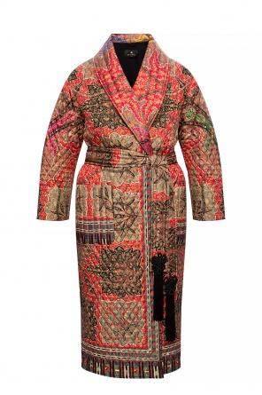 Silk coat with belt od Etro