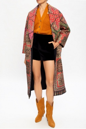 Silk coat with belt od Etro