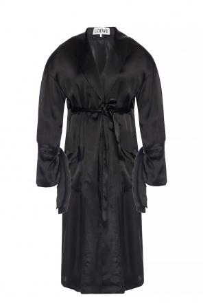 11eb3f9e03ccb ... Self-tie satin dress od Loewe