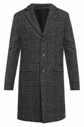 'dowell' checked coat od AllSaints