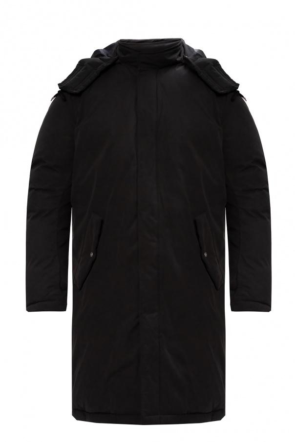AllSaints Puchowy płaszcz z kapturem 'Elm'