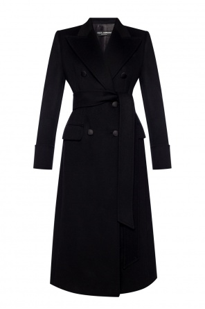 Belted double-breasted coat od Dolce & Gabbana