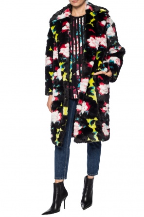 Floral motif double-breasted coat od Kenzo
