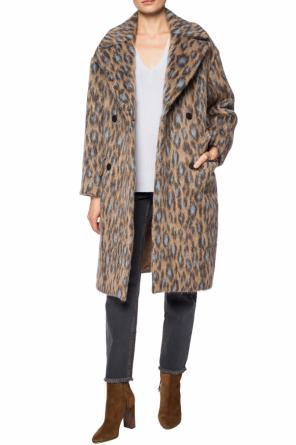 Leopard motif double-breasted coat od Kenzo