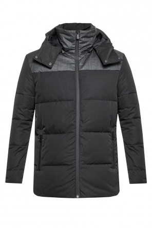 Hooded quilted jacket od Fendi