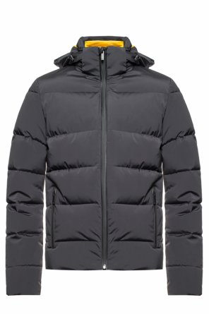 Quilted down jacket with logo od Fendi
