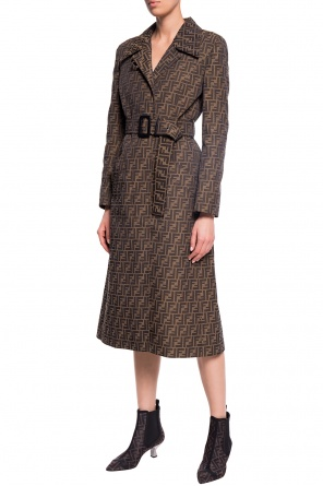 Patterned coat od Fendi