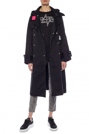 Coat with a detachable appliqué od Diesel