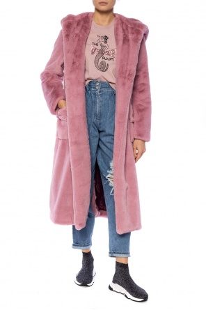 Fur-trimmed coat od Golden Goose