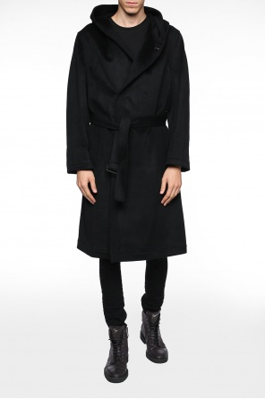 Double-breasted hooded coat od Yohji Yamamoto