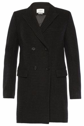 Double-breasted houndstooth coat od Isabel Marant Etoile
