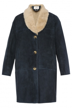Fur-trimmed coat od Isabel Marant