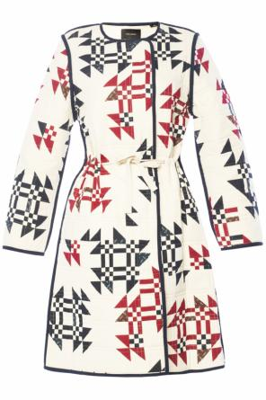 Patterned quilted coat od Isabel Marant