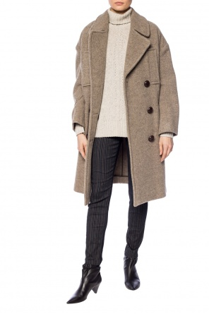Double-breasted coat with notch lapels od Isabel Marant