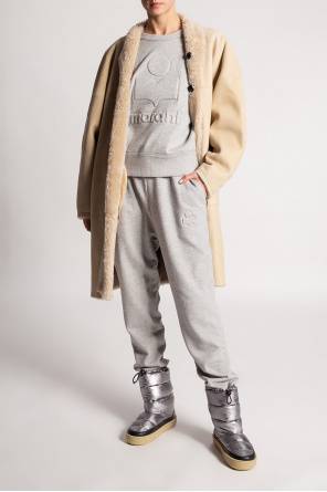 Reversible shearling coat od Isabel Marant