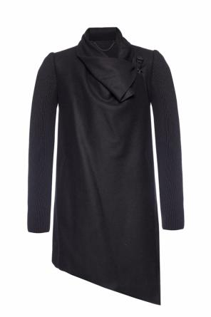 'monument'  ribbed sleeves coat od AllSaints