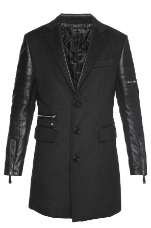 Coat with quilted sleeves od Philipp Plein