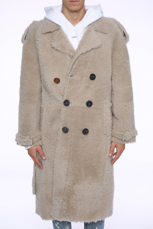 Double-breasted fur coat od Off White