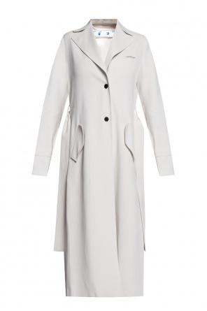 Logo-printed coat od Off White