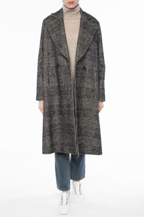 Double-breasted houndstooth coat od Paul Smith