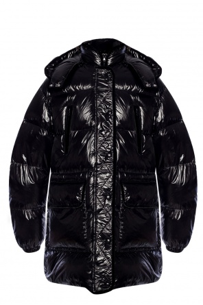 Hooded quilted jacket od Valentino Red