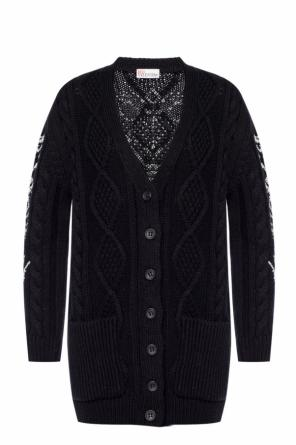 Cardigan with contrasting stitching od Valentino Red
