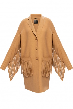 Fringed wool coat od R13