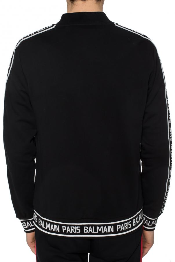 Sweatshirt with logo stripes od Balmain