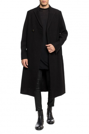 Single-vented double-breasted coat od Rick Owens