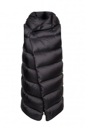 Long quilted down vest od Rick Owens