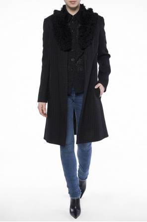 Raw-trimmed collar coat od Lanvin
