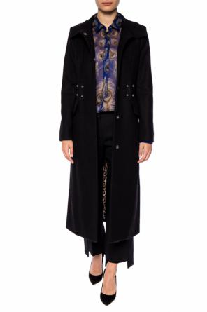 Coat with a  metal embellishment od Just Cavalli