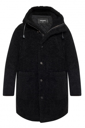 Hooded fur coat od Dsquared2