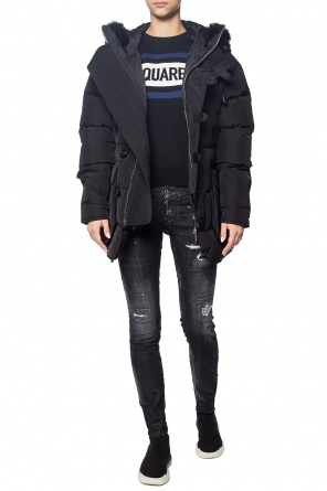 Down jacket with a fur finish od Dsquared2