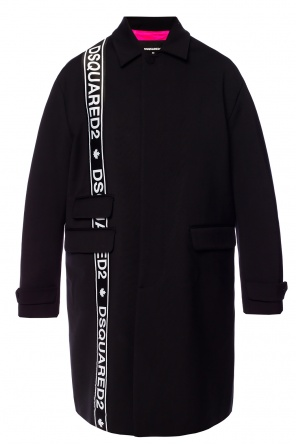 Logo-embroidered coat od Dsquared2
