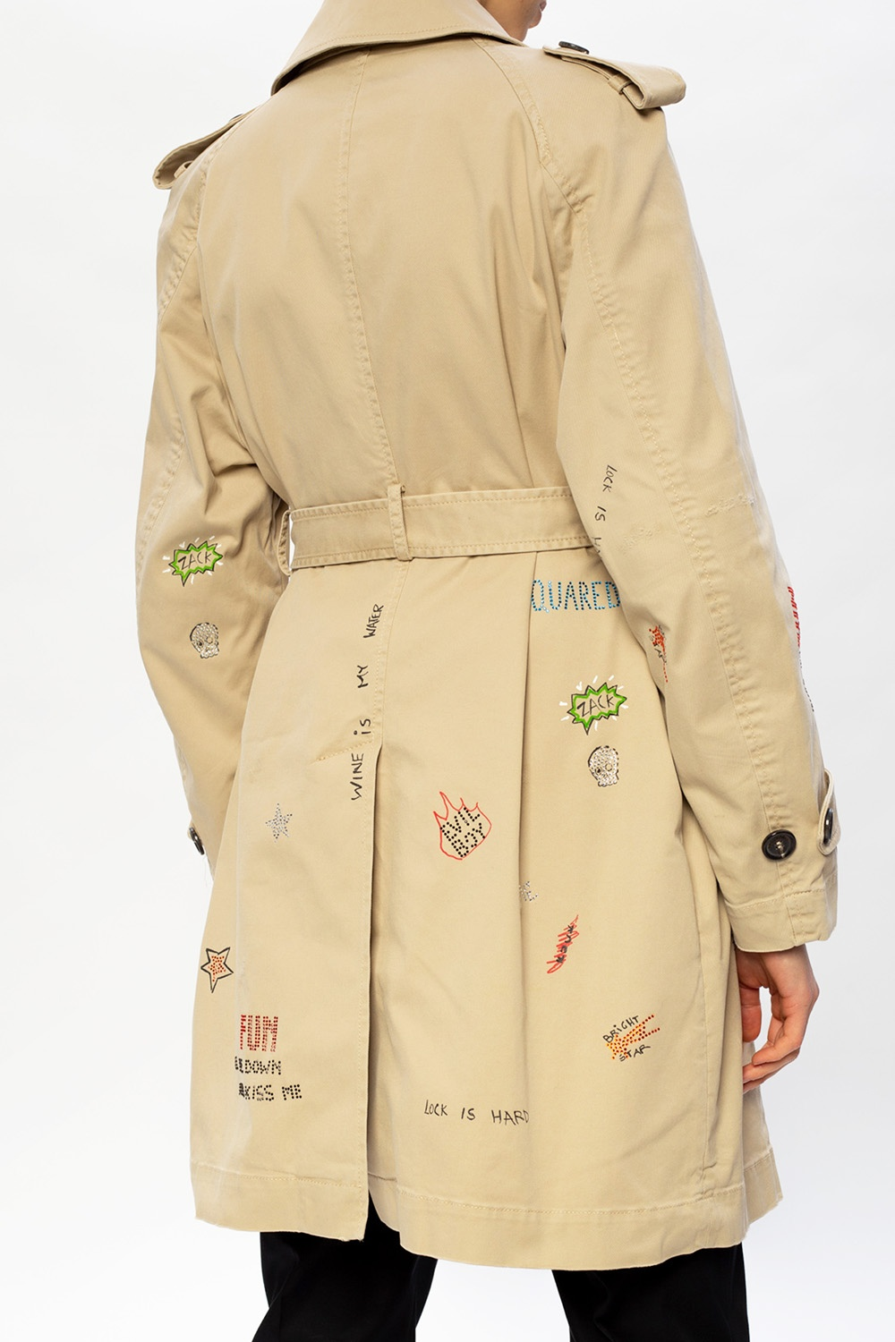 Dsquared2 Printed trench coat
