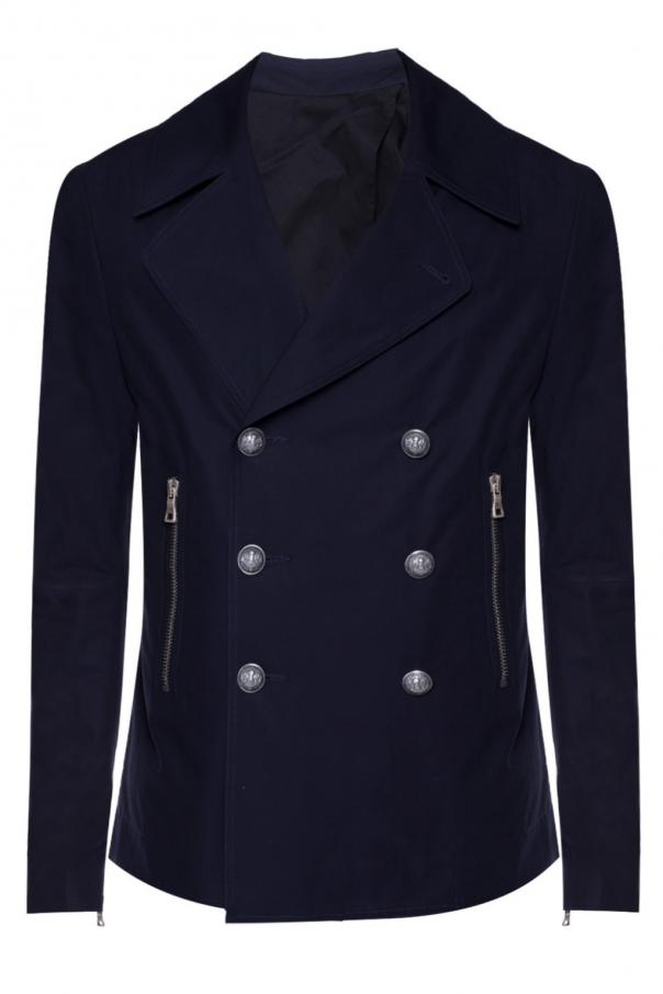 Cropped double-breasted coat od Balmain