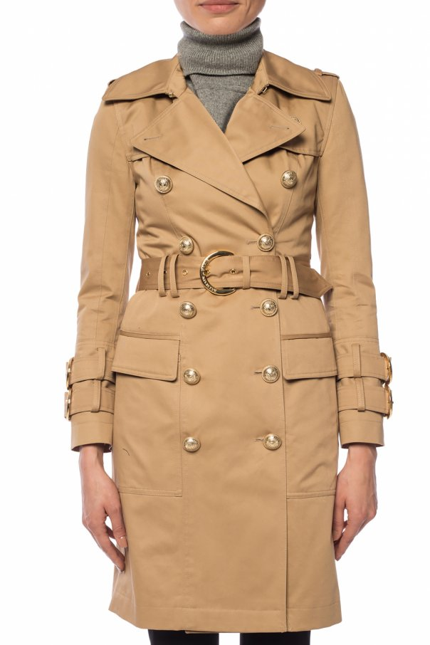 Trench coat with decorative buttons od Balmain