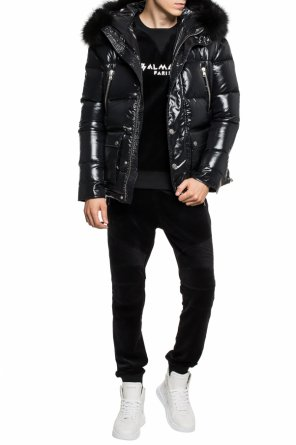 Quilted jacket with fur trim od Balmain