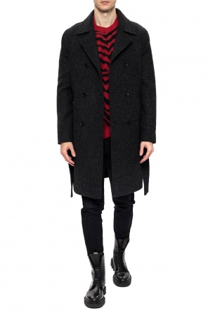 'shaw' double-breasted coat od AllSaints