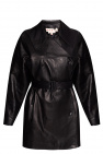 Marni Leather double-breasted coat
