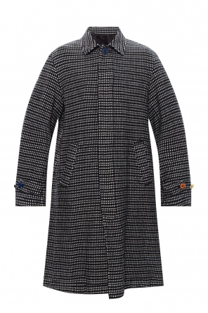 Checked wool coat od Undercover