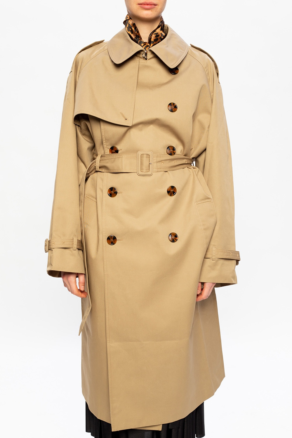 VETEMENTS Double-breasted trench