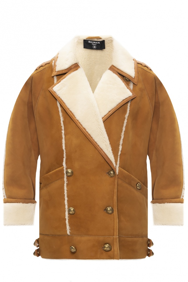 Balmain Leather coat