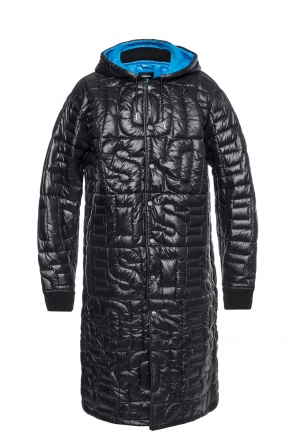 Long, quilted jacket od Diesel