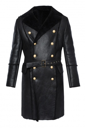 Long shearling jacket od Balmain