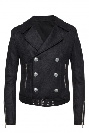 Double-breasted jacket with belt od Balmain