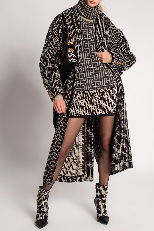 Balmain Wełniany płaszcz