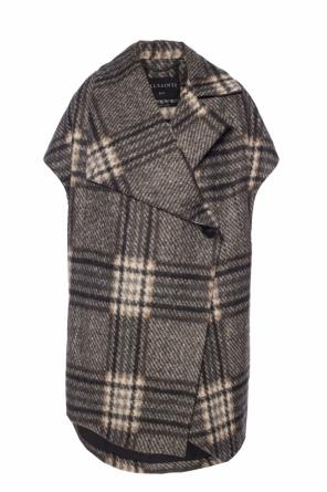 'wrenley' checked poncho od AllSaints